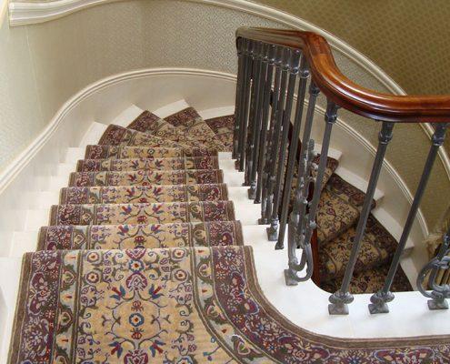 Handmade stair carpet