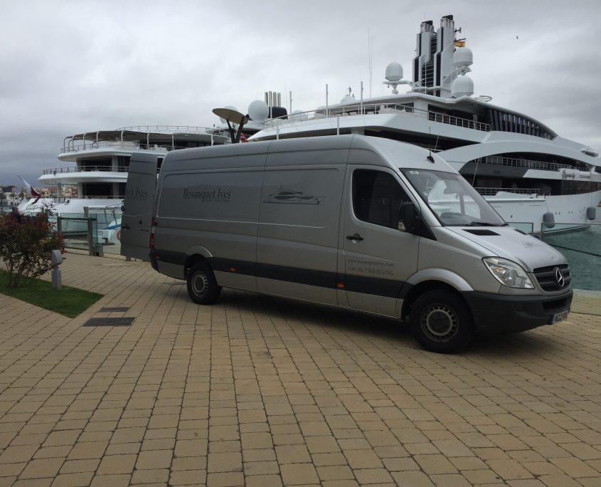 Yacht carpet at port in Tarragona
